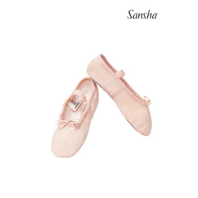 Sansha Детские балетки на сплошной подошве 4C TUTU