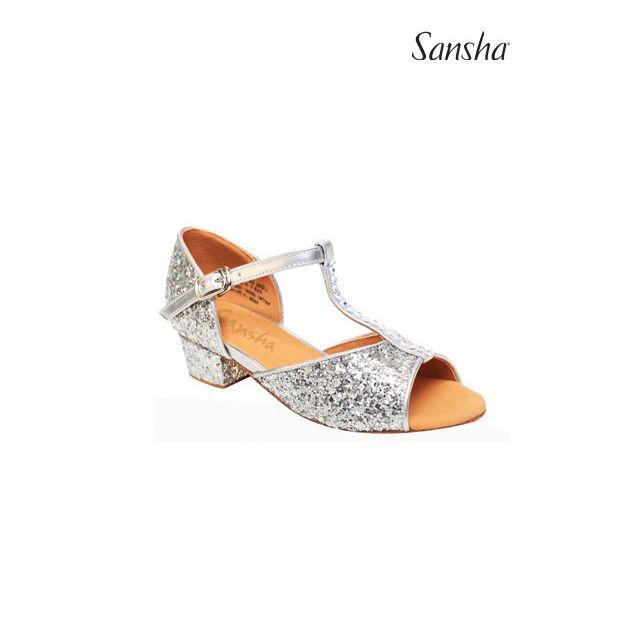 Sansha Блестящие бальные туфли ALEXA BK13046GL