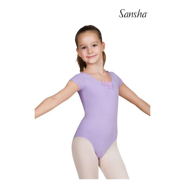 Sansha Купальник с коротким рукавом для девочек Y3517C FAUSTINA