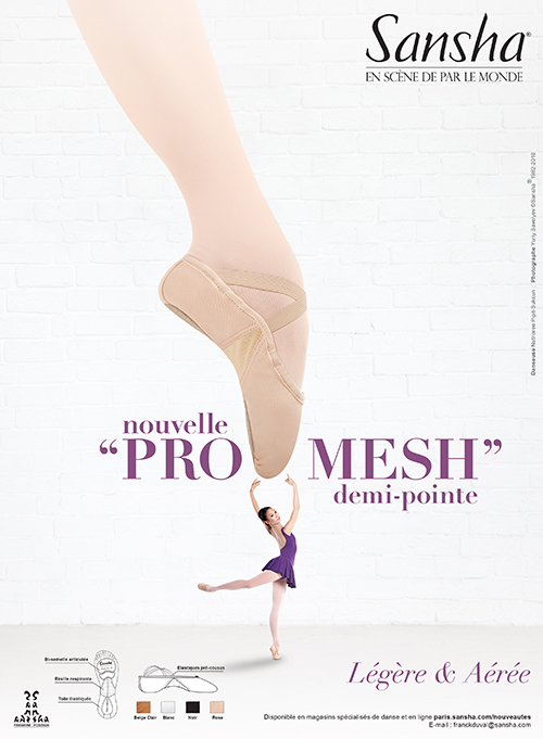 "Sansha NEW ""PRO-MESH"" ballet shoes"